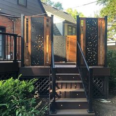 Laser cut privacy screens for interior/exterior use. Add a modern flair to your space while providing privacy around your backyard or deck. Made from high-quality aluminium and a UV protected powder coat, they're built to last.