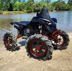 . Can Am Atv, Gas Scooter, Big Boyz, Quad Bike, Four Wheelers, Dirtbikes, Outdoor Toys, Street Bikes, Bike Design