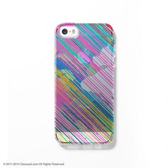 Colourful paint clear printed iPhone case S025