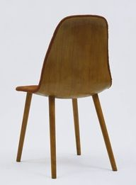 Side Chair from the Museum of Modern Art Organic Design Competition, Designed by Charles Eames and Eero Saarinen, Haskelite Corporation and Heywood Wakefield, 1940