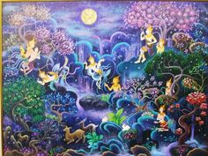 From - The Himavanta is a mythical forest in Hindu mythology containing a plethora of weird and wonderful creatures Buddha Kunst, Buddha Art, Buddha Painting, Mural Painting, Mermaid Sketch, Vietnam, Thailand Art, Forest Creatures, Fairytale Art