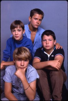 Still of River Phoenix, Corey Feldman, Wil Wheaton and Jerry O'Connell in Stand By Me (1986)