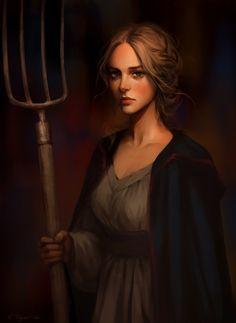 Medieval peasant woman, Svetlana Tigai on ArtStation at https://www.artstation.com/artwork/06Ngw