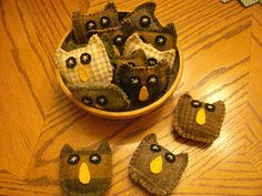basket of prim owls