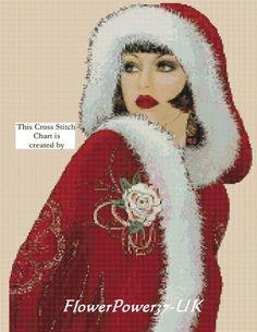 Cross stitch chart  Art Deco Lady 32