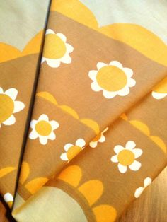 60 s lovely Vintage retro tablecloth with a scandi floral pattern. Made in Sweden