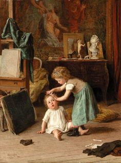 A touch of pampering, Theophile-Emmanuel Duverger. French (1821 - 1901)
