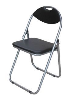 premier padded folding chair black pack of 4 - Padded Folding Chairs