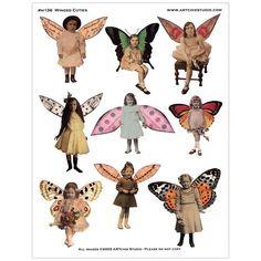 ARTchix Studio Transparency Sheet - Winged Cuties - Stampington