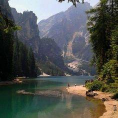 Lake Dobbiaco ,Dolomites, Italy