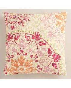 Cost Plus World Market Warm Vintage Style Medallion Print Jute Throw Pillow from Cost Plus World Market | BHG.com Shop