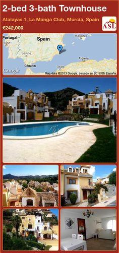 2-bed 3-bath Townhouse in Atalayas 1, La Manga Club, Murcia, Spain ►€242,000 #PropertyForSaleInSpain