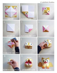Printable Woodland Animals Cootie Catchers – Origamis for kids – Lalelilolu Studios