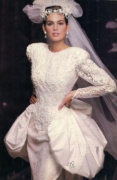 Vintage Brides (Cindy Crawford in 1980's bridal)