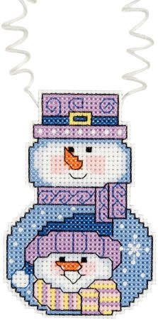 Cross Stitch Craze: Cross Stitch Snowman Kits Set of 5