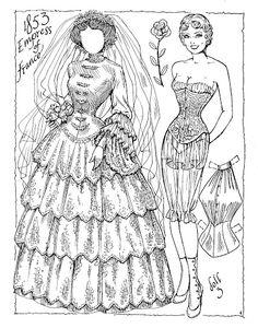 Victorian Brides Paper Dolls by Charles Ventura - Maria Varga - Picasa Web Albums Colouring Pages, Adult Coloring Pages, Coloring Books, Victorian Paper Dolls, Vintage Paper Dolls, Missing Missy, Victorian Bride, Paper Art, Paper Crafts