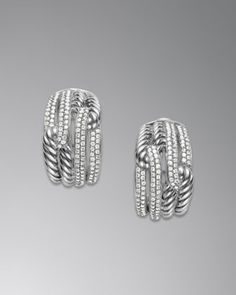 Labyrinth Double-Loop Earrings by David Yurman at Neiman Marcus.<32400.<3<3