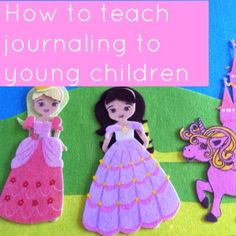 Such an easy way to teach journaling to young children Preschool Writing, Teaching Writing, Teaching Tools, Teaching Kids, Preschool Journals, Play Based Learning, Learning To Write, Kids Learning, Art Activities For Kids