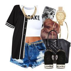 Untitled #498 by oh-aurora on Polyvore featuring River Island, Converse, Givenchy, Michael Kors, INC International Concepts and Jennifer Meyer Jewelry