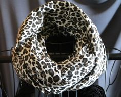 Infinity circle scarf snow LeopardInfinity by ScarfLadyDesigns, $24.00