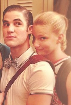 Blaine &  Brittany...don't know why but I really like this pic!