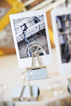 binder clip + washi + instax photo