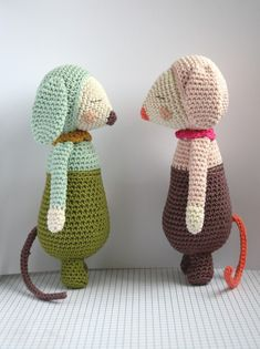 Olive et Violette / [Z*] by Zimbo #amigurumi