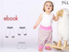 Ebook Baby Hose Modell Aria Mädchen/Junge. Schnittmuster mit Nähanleitung. Mitwachshose. Strampler. Babyhose mit Strickbündchen von pattern4kids auf Etsy