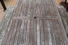 Rénover une table de jardin en bois Wonderful Breizh