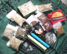 Assorted Pagan Wicca Supplies - Candles Incense Herbs Charms Stones Handmade Items + More
