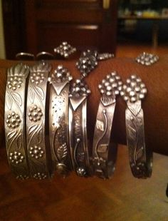 West Indian silver bangles.  When I moved to NY from the south as a child, all the girls wore these and I wanted some too. #accessories