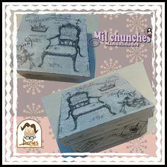 caja vintage con decoupage Decoupage, Vintage, Boxes, Manualidades
