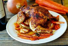 Paprika Roasted Cornish Hen with Vegetables (carrots and sweet potatoes) - a delicious way to prepare cornish hen. Great recipe for the Fall season, Thanksgiving and Christmas. If you're craving a simple comfort dish, try Roasted Cornish Hen, Cornish Hen Recipe, Cornish Hens, Vegetable Recipes, Chicken Recipes, Food Dishes, Main Dishes, Great Recipes, Favorite Recipes