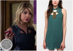 Shop Your Tv: Pretty Little Liars: Season 3 Episode 19 Hanna's Teal Cut out Sleeveless Blouse Pll, Lying Game, Pretty Little Liars Seasons, Disneybound, Sleeveless Blouse, My Outfit, Style Inspiration, Style Ideas, Tv Shows