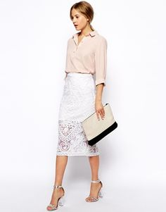 Enlarge ASOS Cornelli Pencil Skirt  I love this outfit but wouldn't be brave enough to wear it!