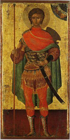 Димитрий Солунский, св. вмч.; XV в.; Греция. - православные мастерские «Русская Икона»