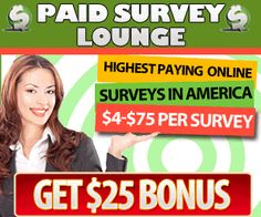 Get $ #Paid $ for Your #Opinions!! ~ $4 – $75 Per #Survey + Get $25 #Bonus!! | Freebies Deals & Steals