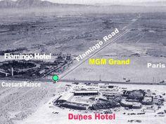 Aerial view of old Las Vegas.