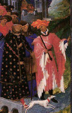Les Petites Heures de Jean de Berry Duke Jean de Berry departing on a pilgrimage Bourges, c.1412