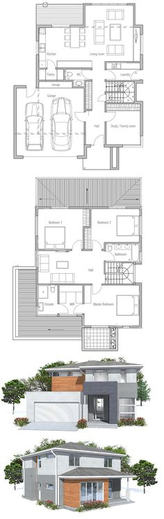 Floor Plan CH111 from ConceptHome.com #houseplans #twostoreyhomeplans