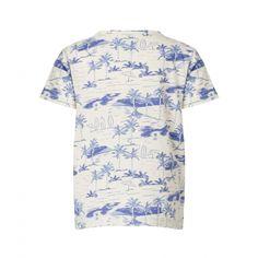 Hvid Lave t-shirt med palmeprint fra Mini A Ture