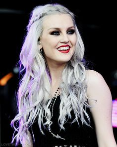 Perrie Edwards hair smile lipstick blue eyes red lips gorgeous perrie edwards