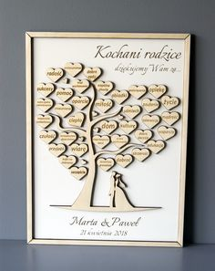 PODZIĘKOWANIA DLA RODZICÓW _ DRZEWKO GRAWER (7391690077) - Allegro.pl - Więcej niż aukcje. Our Wedding, Wedding Gifts, Dream Wedding, Wedding Planer, Dream Book, Parent Gifts, Best Day Ever, New Product, Diy Bedroom Decor