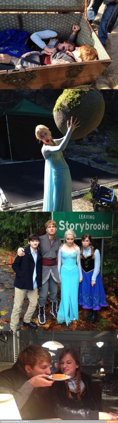 How the frozen cast feels about being on Once Upon A Time! lol