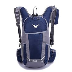 Sfeibo Backpack 30L Nylon Cycling Outdoor Sport Hiking Daypack (darkblue) >>> New and awesome product awaits you, Read it now  : Camping backpack