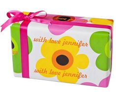 Mod Blooms Personalized Gift Wrap