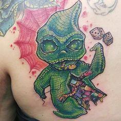 nightmare before christmas oogie boogie back tattoos Dream Tattoos, Back Tattoos, Leg Tattoos, Body Art Tattoos, Cool Tattoos, Awesome Tattoos, Tattos, Nightmare Before Christmas Tattoo, Funny Monsters