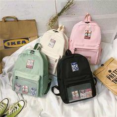 Japanese Harajuku Transparent Uniform Bag Cute Shoulder Handbag Wild Backpack