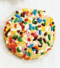 Sprinkle Cookies   A confetti of color, these childhood favorites make holiday magic come alive.  Recipe - Saveur.com