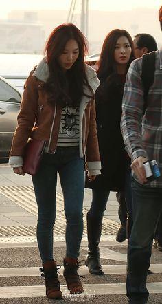 Red Velvet Wendy & Seulgi Airport Fashion 141018 2014 Kpop